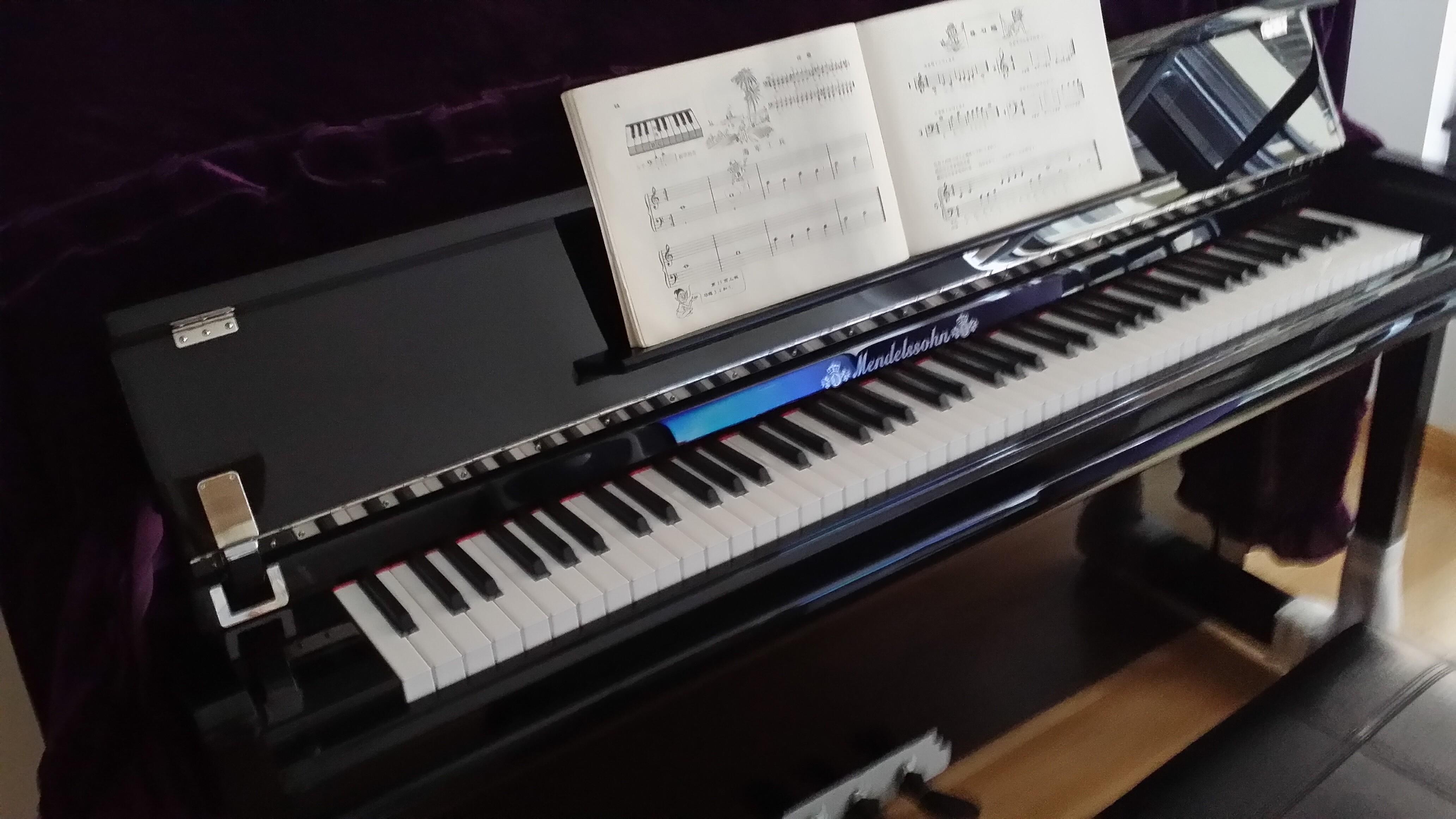 我也开始学钢琴啦图片
