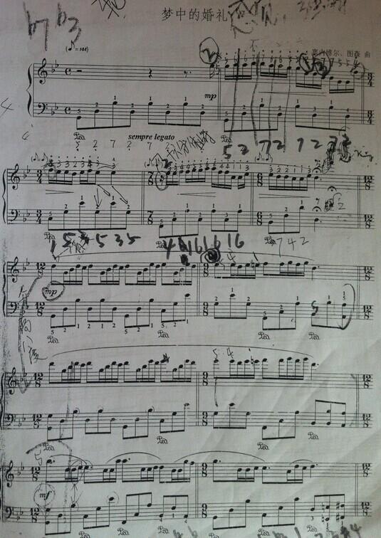 【梦中的婚礼 闺女正在学习的曲子】_蛐蛐钢琴网